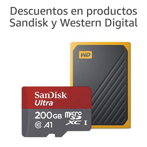 Descuentos en productos Sandisk y WD
