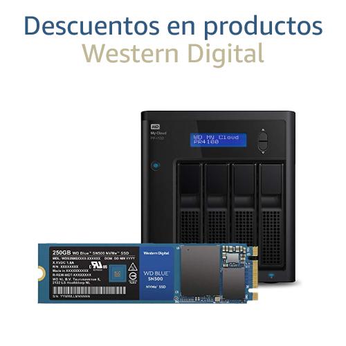 Ahorra en productos de almacenamiento Western Digital
