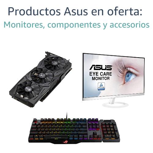 Productos Asus en oferta: Monitores, componentes y accesorios