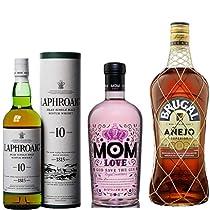 Disfruta de las ofertas en Whisky Laphroaig, Ron Brugal y Ginebra Mom