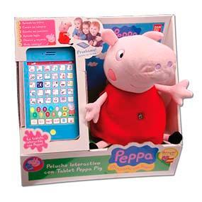 Peppa Pig - Peluche interactivo con tablet (Bandai 84268