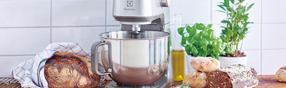 Electrolux EKM7300 Expressionist Collection-Robot de Cocina con Gancho amasador Profesional TruFlow, 1000 W, 5.7 litros, Gris: Amazon.es: Hogar