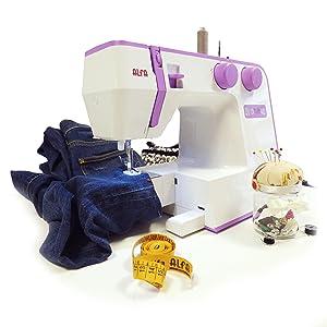 Alfa; Style; Máquina de coser potente que cose vaqueros