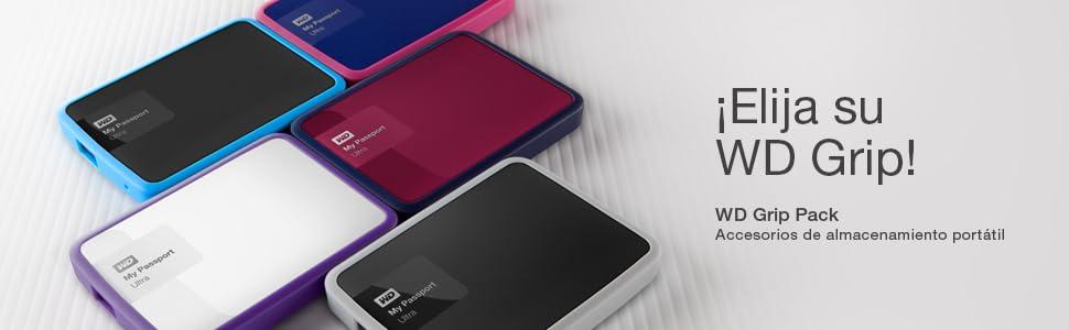 Western Digital WDBFMT0000NPM-EASN - Funda de disco duro para My Passport Ultra (incluye cable USB 3.0) color rosa ...