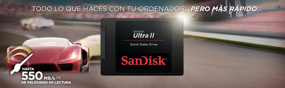 SanDisk Ultra II - Disco Duro sólido Interno SSD de 480 GB (SATA ...