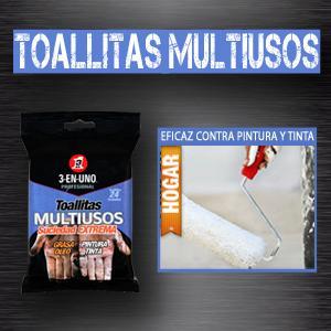 TOALLITAS MULTIUSOS 3-EN-UNO