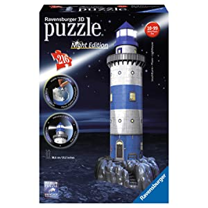 Ravensburger - 3D Puzzle Building Faro Night (12577 7