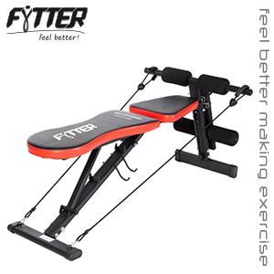 Fytter Bench Be-03R Banco de musculación Plegable, Unisex, Negro/Rojo