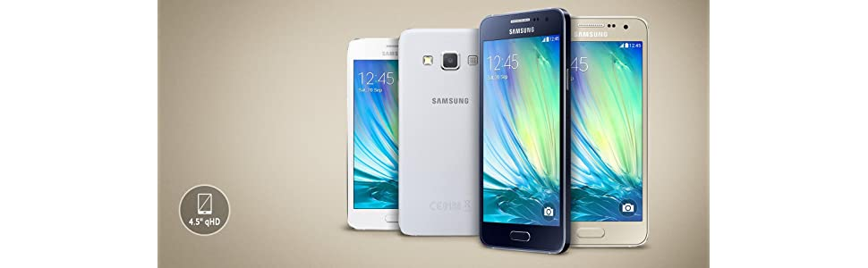 Samsung Galaxy A3 - Smartphone libre Android (pantalla 4.5