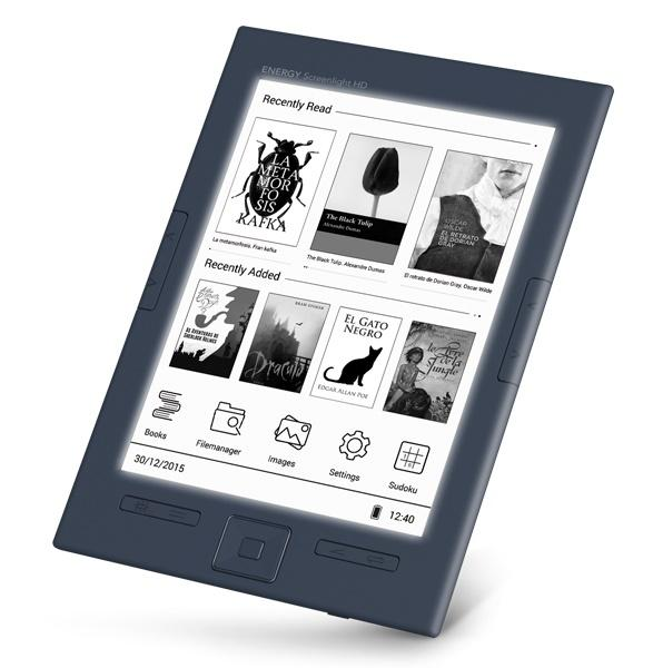 Energy Sistem - Lector de libro electrónico con luz de