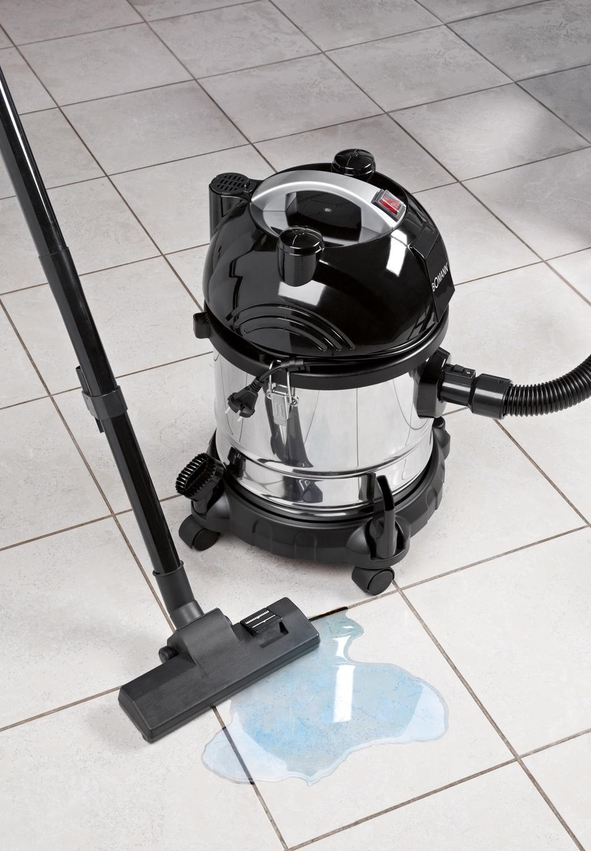 Bomann BS 9000 Aspiradora en seco y húmedo, 1600 W, 20 litros, Acero inoxidable, Negro/gris: Amazon.es: Hogar