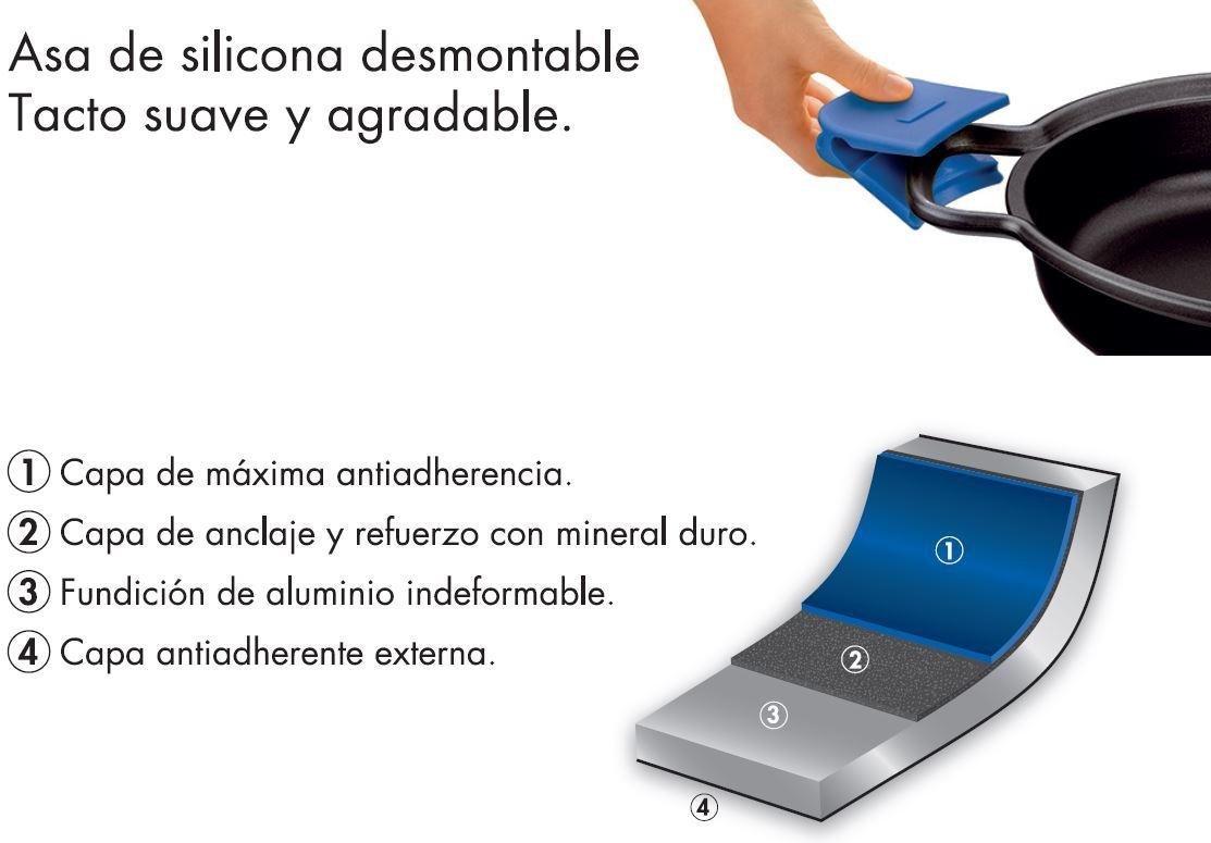 Monix Solid+ - Cacerola Alta 28 cm de Aluminio Fundido con ...