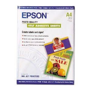 Epson C13S041106 - Papel inkjet mate y autoadhesivo (A4, 167 g/m² ...