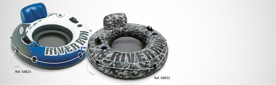 Intex River Run - Flotador con Asiento, 135 cm diametro, Verde ...