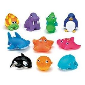 munchkin squirtinu sea buddies juguetes para el bao