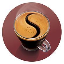 Capa de crema de café deliciosa