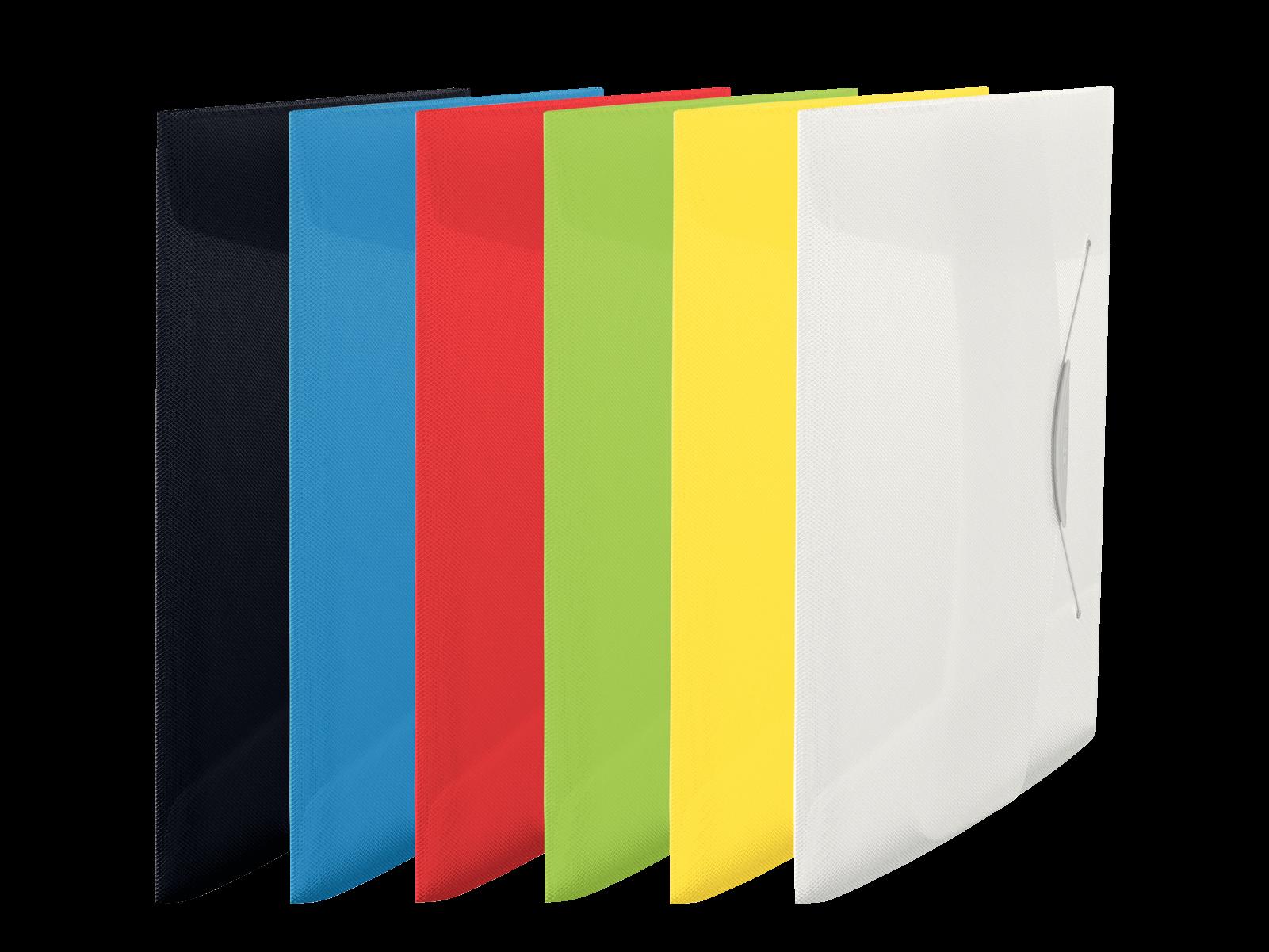 Cierre el/ástico 624050 Capacidad para 350 hojas Esselte Carpeta de proyectos VIVIDA Blanco A4
