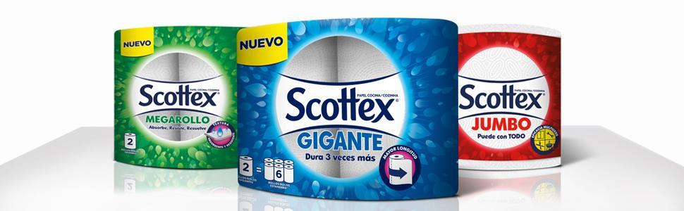 Scottex Gigante Rollos de Cocina - 3 Unidades: Amazon.es ...