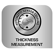 Tefal OptiGrill+ GC712D Sensor que mide el grosor de los alimentos