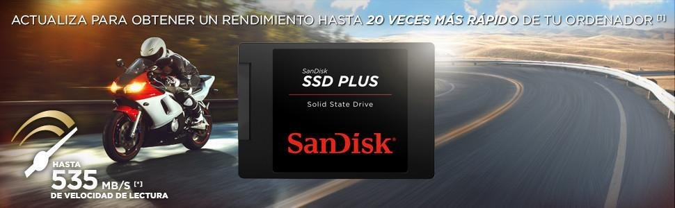 SanDisk Plus - Disco sólido interno de 120 GB + Kit de ...