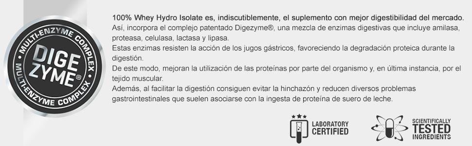 Prozis 100% Whey Hydro Isolate SS para la Quema De Grasas, la Recuperación Muscular y la Musculación, Fácil de Digerir y Bajo en Carbohidratos, Piña - ...