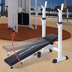 Ultrasport H250 Banco de musculación con sistema de barra