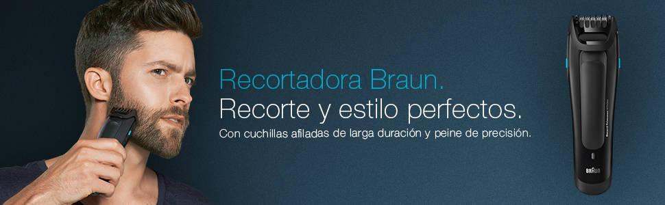 Braun BT 5050 - Recortadora de barba de maxima precision para un estilo perfecto