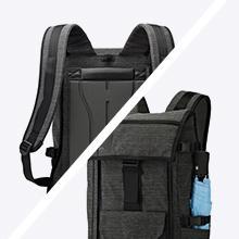 BP 250: Un panel posterior suave anti enganches ofrece comodidad de transporte a lo largo del día. Bolsillo lateral estirable para un paraguas plegable u ...