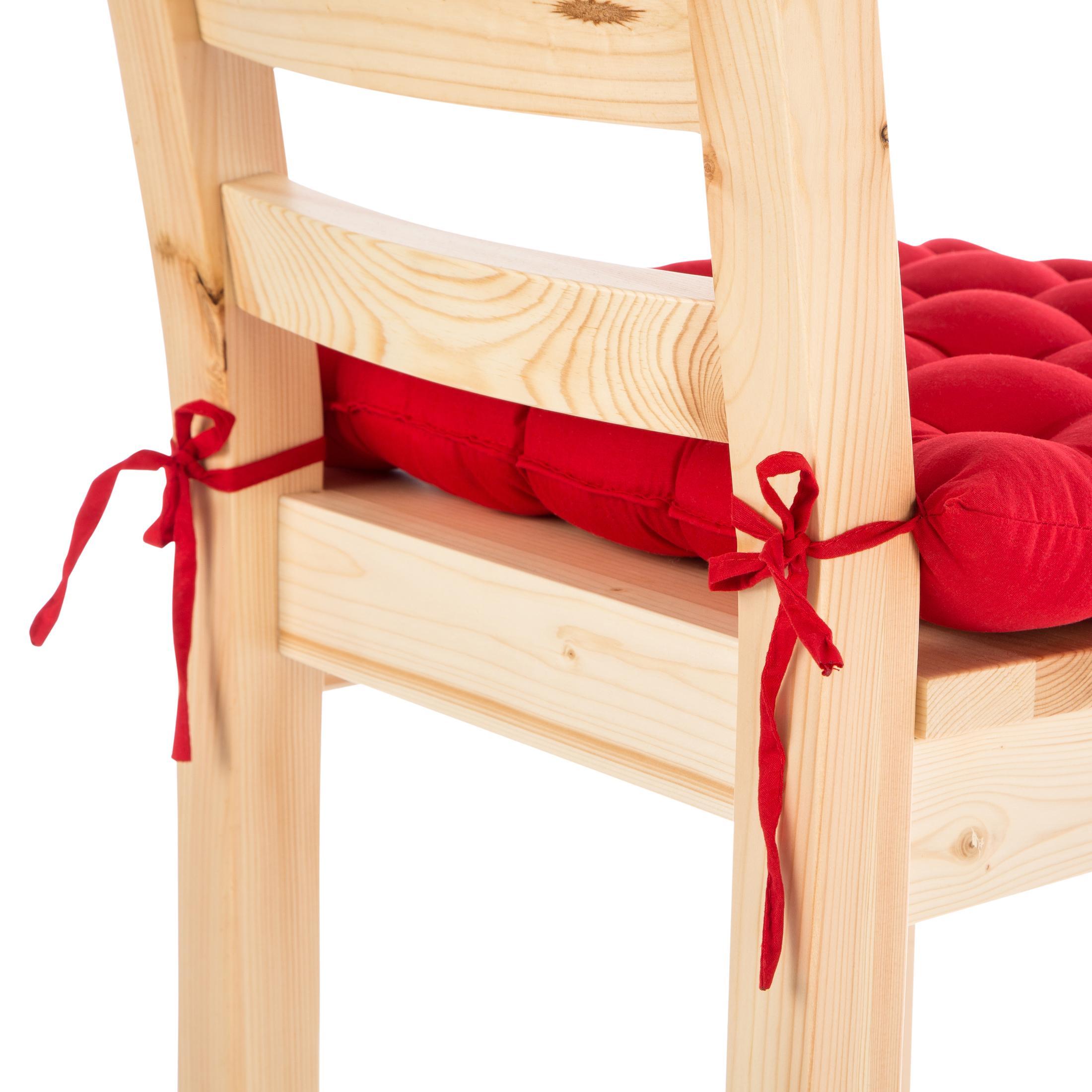 Levivo set de 4 cojines acolchados cojines para sillas o - Cojines para sillas de jardin ...