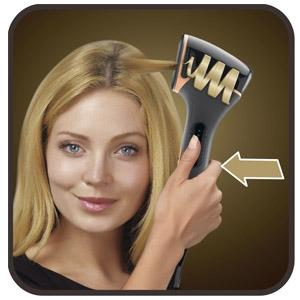 Rowenta Expertise So Curls CF3710 el mechón de pelo se recoge automáticamente en la máquina