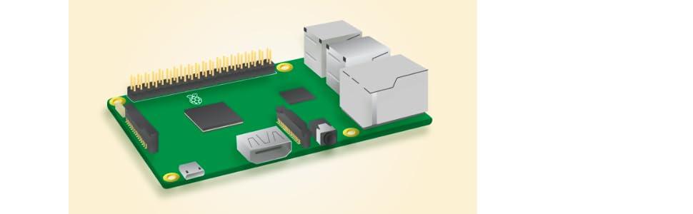 Raspberry Pi 3 Model B, CPU Quad Core 1,2GHz Broadcom BCM2837 64bit , 1GB RAM, WiFi, Bluetooth BLE: Amazon.es: Informática