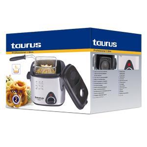 Taurus Professional 1 Slim Freidora, 1000 W, 1 Kilogram, Metal, plata