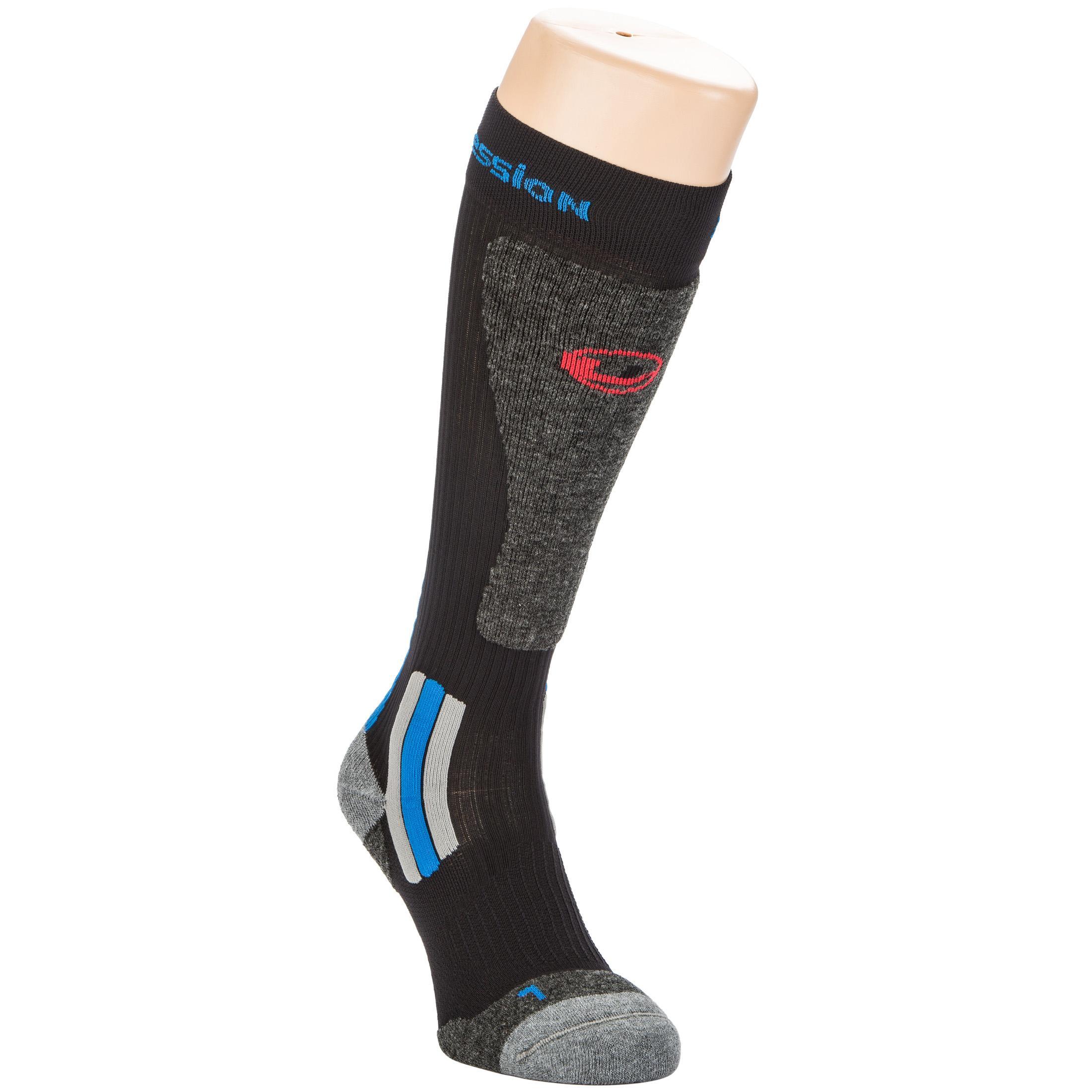 Ultrasport Calcetines de compresión de esquí con Meryl y Thermolite / lana