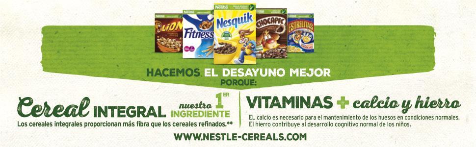cereales, cereales integrales, calcio, vitaminas, desayuno, lion, Chocapic, estrellitas