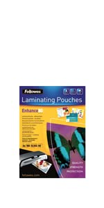 Fundas plastificar Fellowes, 80 micras