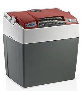 Mobicool G26 AC/DC - Nevera termoeléctrica portátil, conexiones 12 / 230 V, 26 litros de capacidad, clasificación energética A+++, color rojo/gris