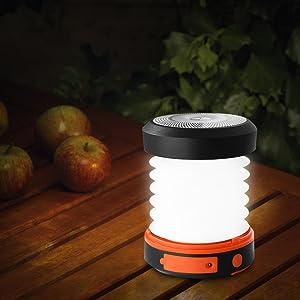 SUAOKI - Mini Linterna Camping LED Solar Plegable y ...