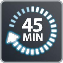 Autonomía hasta 45 minutos