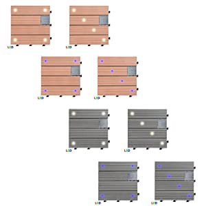 una baldosa de terraza de compuesto de plstico y madera