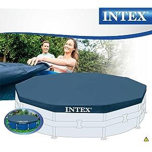 Intex 28030 - Cobertor piscina metálica Metal & Prisma Frame 305 ...