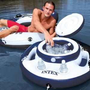 Intex 58821NP - Nevera hinchable y flotante 122 x 97 cm