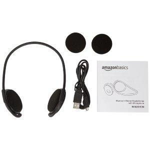 Contenido de la caja. - Auriculares estéreo con Bluetooth y micrófono de AmazonBasics
