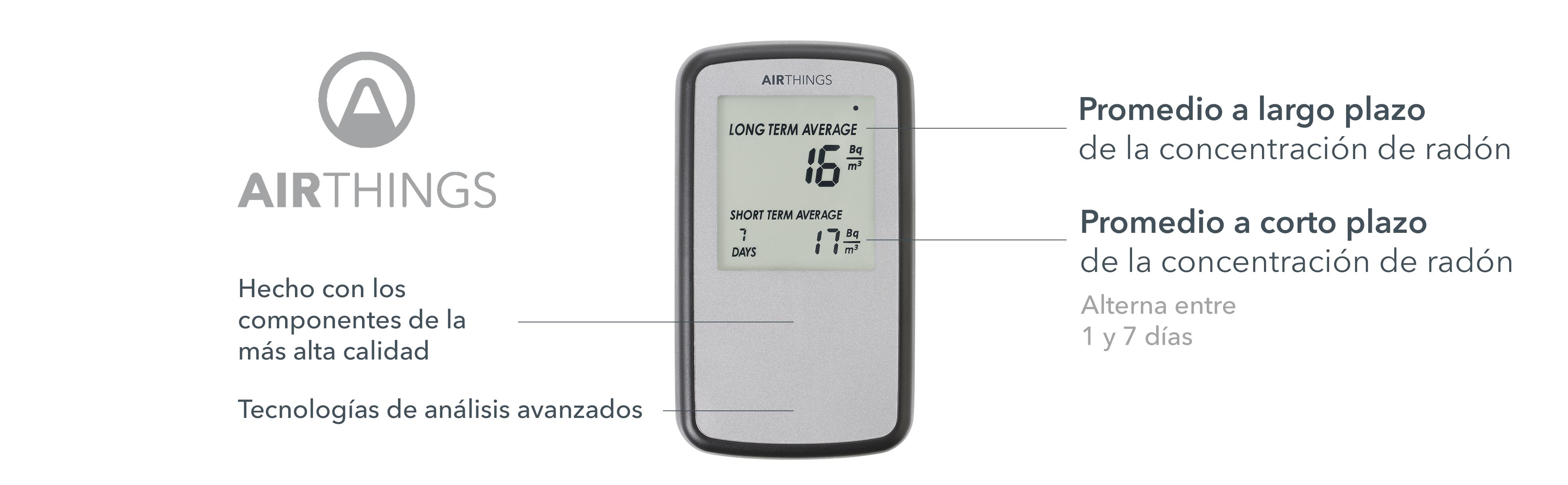 Corentium home airthings detecteur de gas radon version for Medicion de gas radon