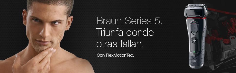 Braun 5020 Serie 5 - Afeitadora con cabezal basculante, cuchillas ...