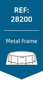 Intex 56994 - Metal Frame piscina desmontable de 6.503 litros, 366 ...