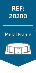 Intex 28212NP Piscina Redonda Metal Frame, con depuradora, 366X76 ...