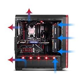 Nox Hummer MC Black - NXHUMMERMCB - Caja PC, Color Negro: Nox ...
