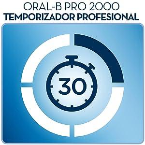 Oral-B Pro 2000 - Cepillo de dientes eléctrico recargable, mango ...