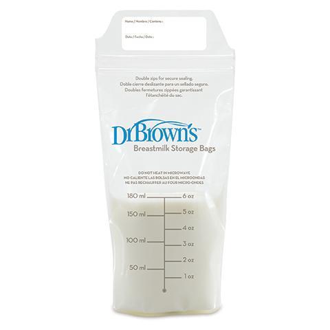 Dr Browns - Bolsas de leche materna (pack con 25 bolsas)