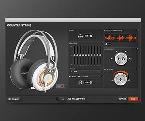 SteelSeries Siberia 650 - Auriculares para Juego, Sonido Dolby Surround 7.1, iluminación RGB, gestión de Software, (PC/Mac), Blanco